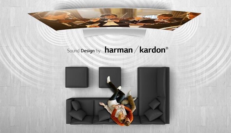 Tivi LG 65G965T âm thanh được chế tác bởi Harman Kardon