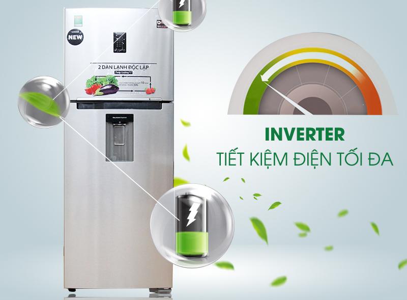 Khả năng tiết kiệm điện năng tiêu thụ tối đa của tủ lạnh Inverter 38K5982SL/SV