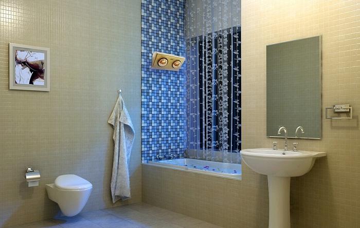 Đèn sưởi nhà tắm Kottmann 2 bóng K2BH có kích thước nhỏ gọn, tiết kiệm diện tích cho phòng tắm.