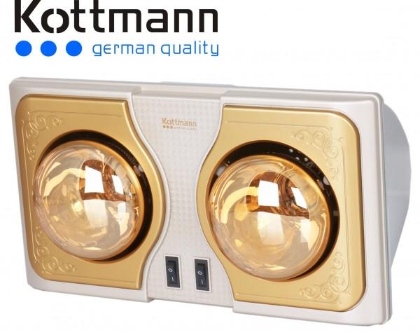 Đèn sưởi nhà tắm Kottmann 2 bóng K2BH làm ấm cực nhanh chỉ sau vài giây
