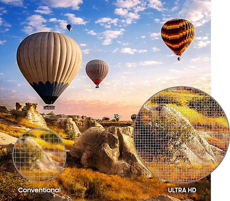 Khả năng nâng cấp hình ảnh trên Samsung UA49MU6400
