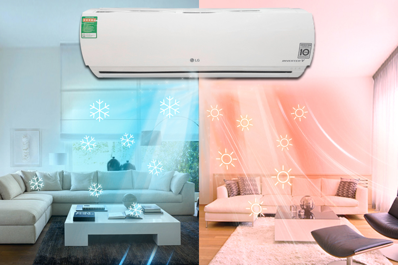 Căn phòng luôn giữ ở nhiệt độ phù hợp với điều kiện thời tiết