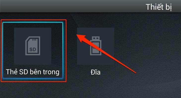 Chép dữ liệu lên smart TV TCL 7