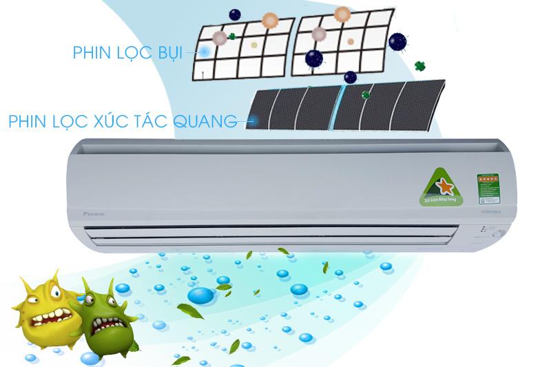 Phin lọc xúc tác quang có tác dụng kháng khuẩn, khử mùi hiệu quả