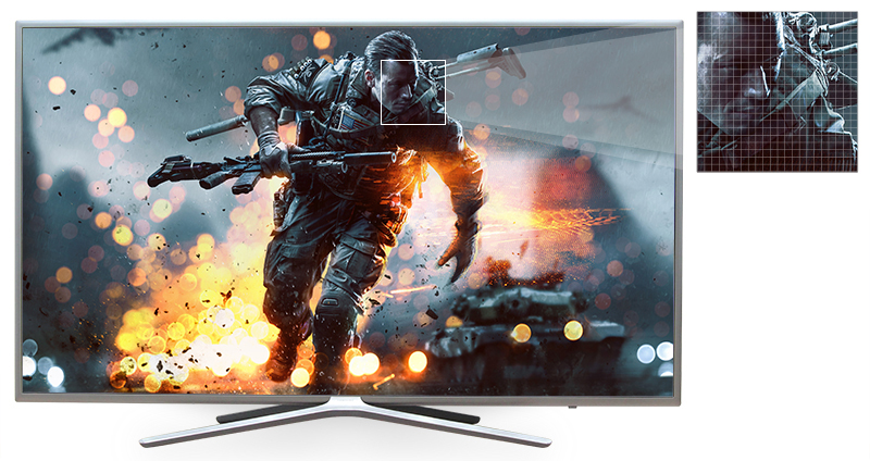 Smart tivi 43 inch UA43M5500 có độ tương phản gấp 3 lần với công nghệ Dimming Pro