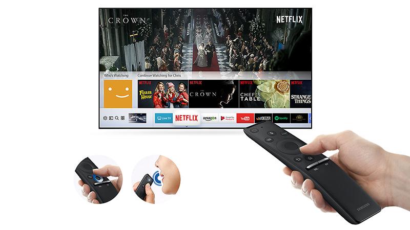Remote thông minh có Magic Remote đi kèm tivi Samsung 55 inch