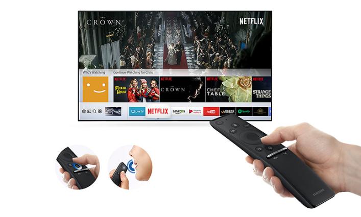 Smart tivi Samsung UA40MU6100 trang bị điều khiển thông minh