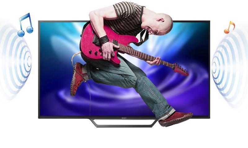 Âm thanh bùng nổ, mạnh mẽ với Tivi Sony KDL-43W750E