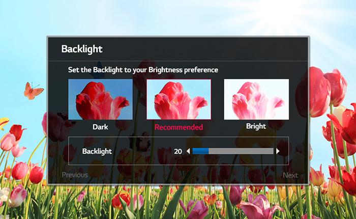 Smart tivi LG 55LJ550T cho phép người dùng có thể tự điều chỉnh hình ảnh theo ý muốn của mình