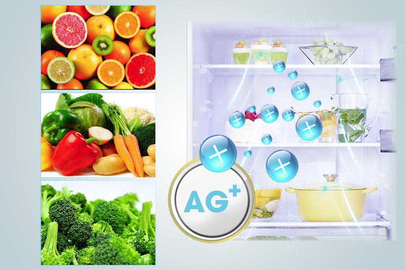 Kháng khuẩn tốt với công nghệ Ag Clean của tủ lạnh NR-BX468XSVN