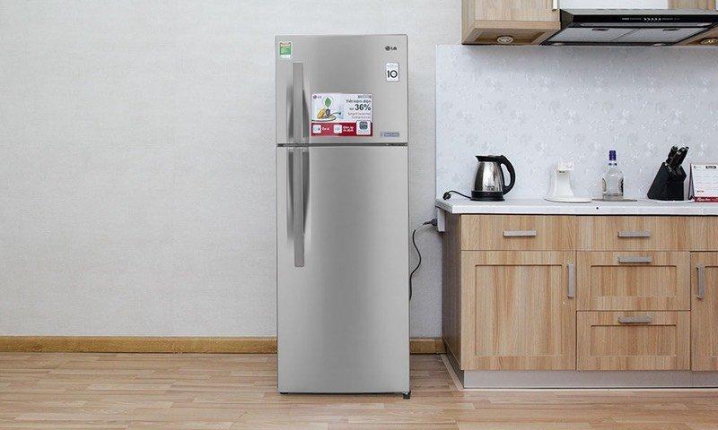 Tủ lạnh LG 208 lít GN-L225BS với thiết kế sang trọng, tinh tế