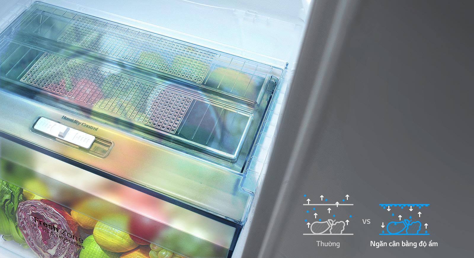 Hệ thống làm lạnh hiện đại với tủ lạnh Side by side GR-B247JP