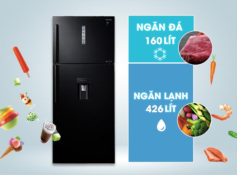 Thiết kế tinh xảo, đẹp mắt với tủ lạnh Samsung 586 lít RT58K7100BS/SV