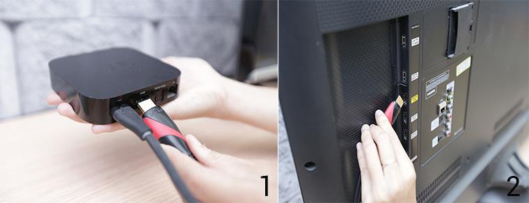 Kết nối giữa TV và Airplay Play thông qua dây cáp