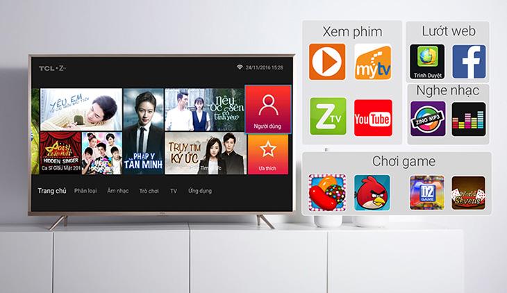 Smart Tivi TCL có nhiều tính năng hiện đại mang đến những trải nghiệm hấp dẫn cho người dùng