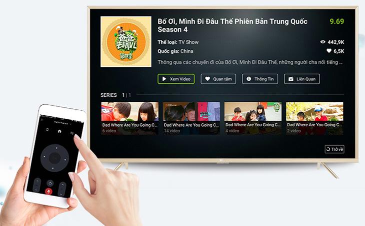 Tính năng điều khiển tivi bằng điện thoại thông qua T - Cast