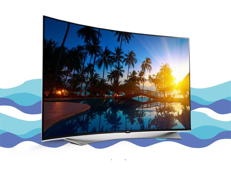 Tivi LG màn hình cong ấn tượng