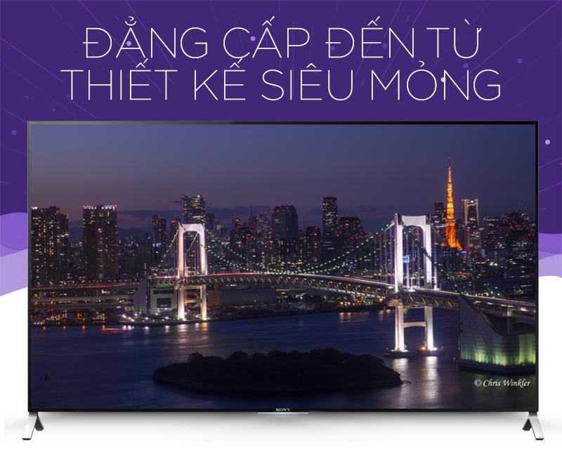 Tivi Sony KD- 55X9000C- Ấn tượng đến choáng ngợp với thiết kế siêu mỏng
