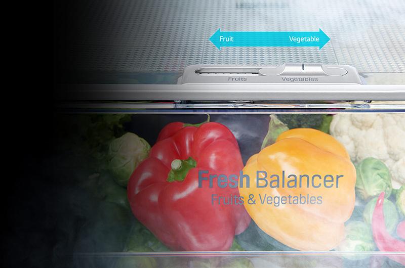 Phân chia ngăn chứa rau củ với tủ lạnh Inverter GR-P247JS