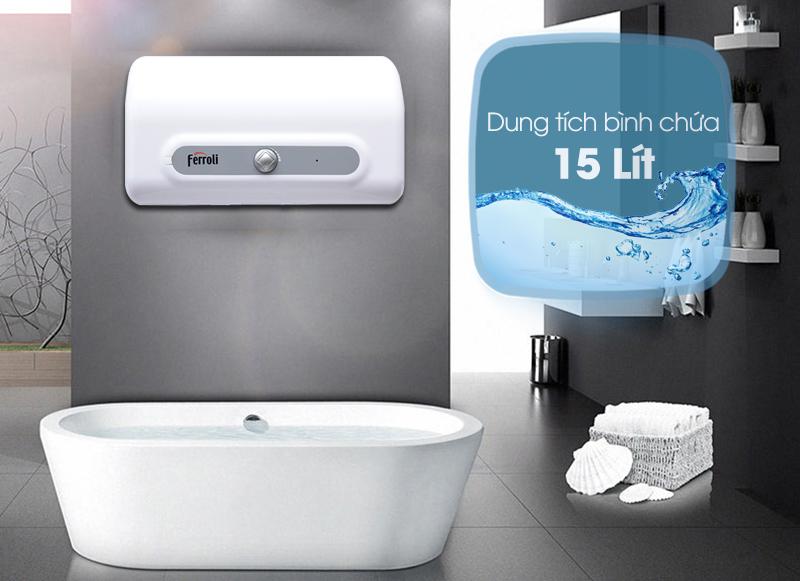 Chất lượng ngay từ thiết kế với bình tắm nóng lạnh FERROLI QQSI15