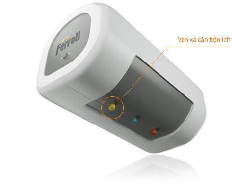 Thiết kế tiện dụng với van xả cặn với bình tắm nóng lạnh gián tiếp FERROLI QQSL15