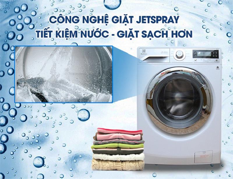 Công nghệ Jetspray góp phần nâng cao hiệu quả giặt