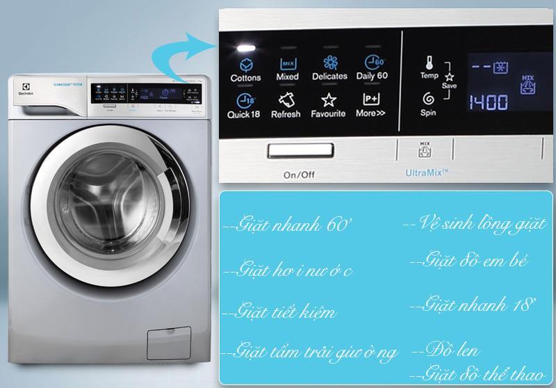 Tích hợp nhiều chế độ giặt trong một sản phẩm