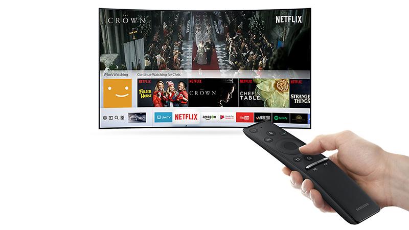 Điều khiển tivi 49MU8000 đơn giản hơn thông qua smartphone