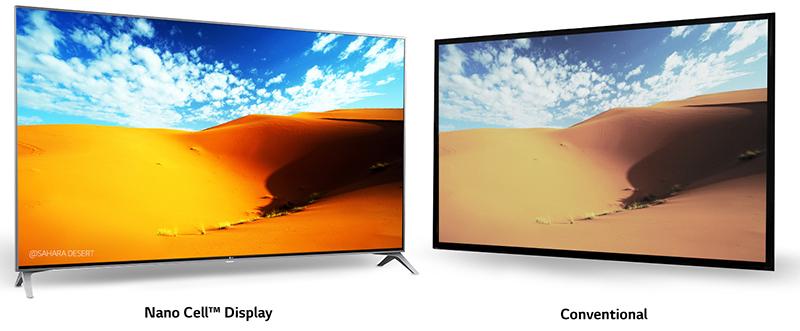 Smart Tivi LG 65 inch 65SJ800T hiện thị chất lượng màu sắc chuẩn xác