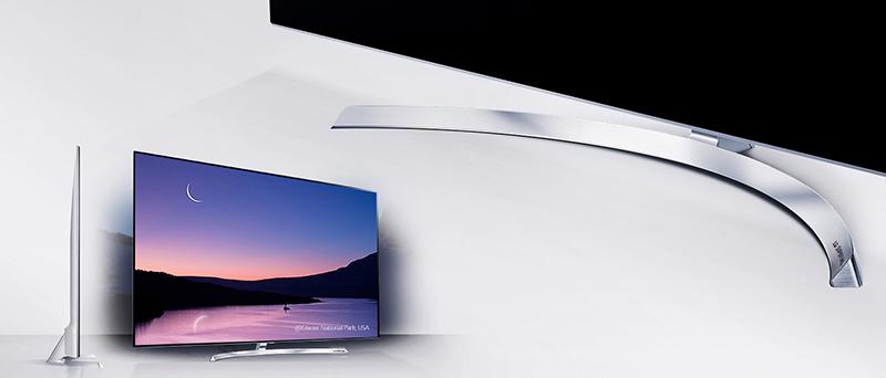 Smart Tivi LG 65 inch 65SJ850 sở hữu thiết kế tinh tế với kiểu dáng hiện đại