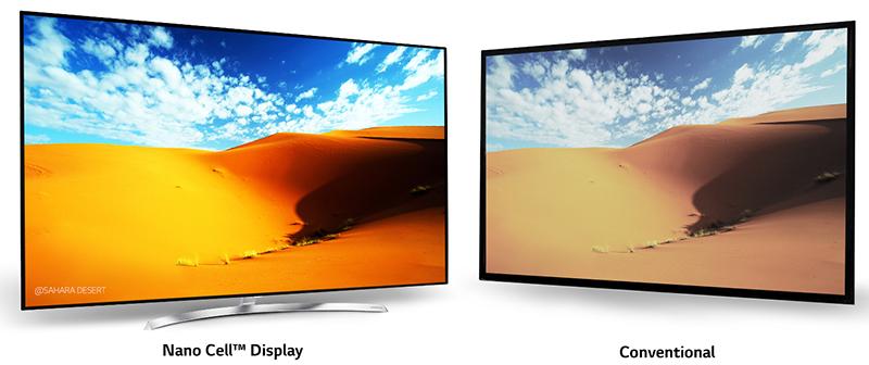 Dải màu sắc chuẩn xác với tivi LG 65SJ850