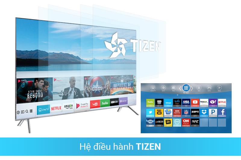 Tích hợp hệ điều hành Tizen OS thân thiện với người dùng của Samsung 65MU7000 4K