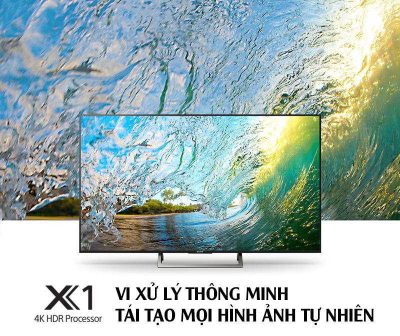 Tivi Sony 65 inch X8500E thích hợp với chip xử lý hiện đại tái tạo hình ảnh nguyên bản đến ấn tượng