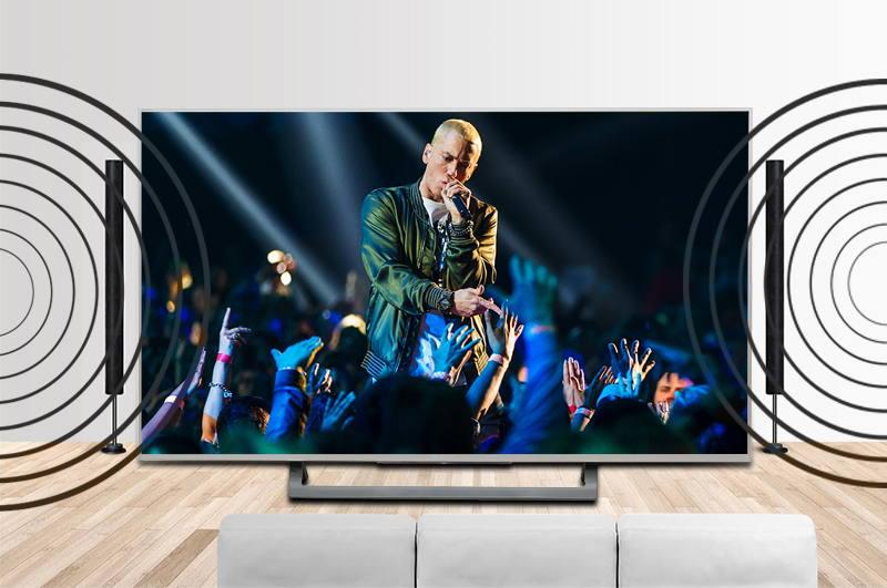Hệ thống âm thanh mạnh mẽ và bùng nổ với tivi 4K 65 inch 65X8500E