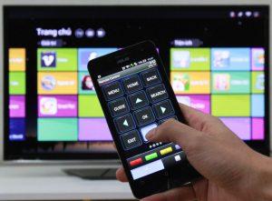 Thao tác trên ứng dụng TV SideView (Nguồn ảnh: Internet)
