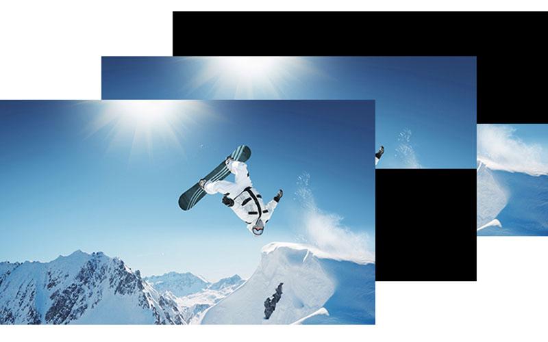 Công nghệ quét hình hiện đại MotionflowXR 200 Hz bởi 55X7000E