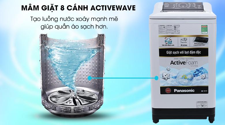 Mâm giặt Active Wave - Máy giặt Panasonic 10 kg NA-F100A4GRV