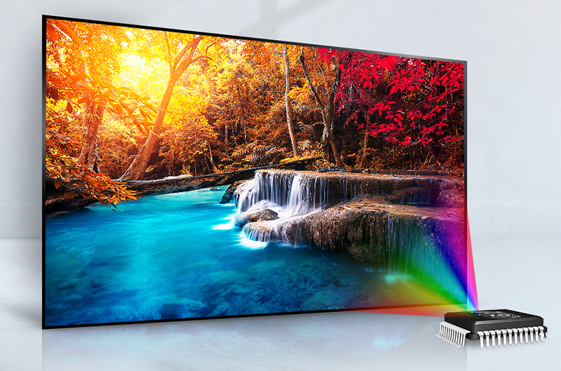 Tốc độ xử lý hình ảnh hoàn hảo với tivi LG 43 inch