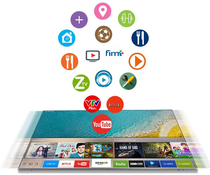 Trải nghiệm kho ứng dụng phong phú với Tivi Samsung 43K5500