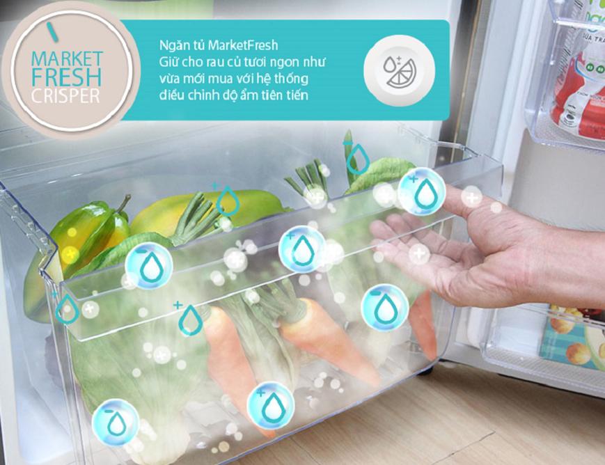 Ngăn Market Fresh bảo quản rau củ quả