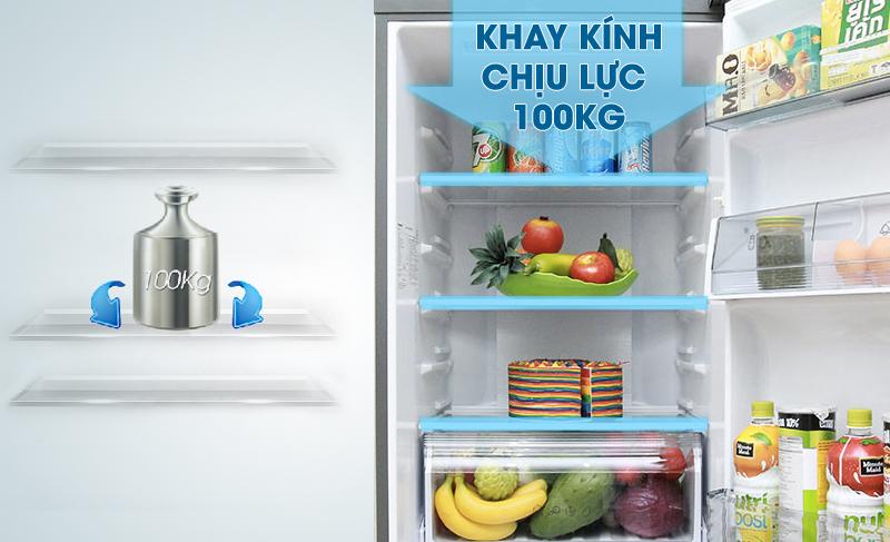 Khay chứa chịu lực, linh hoạt cao của tủ lạnh Panasonic 267 lít NR-BL308PKVN