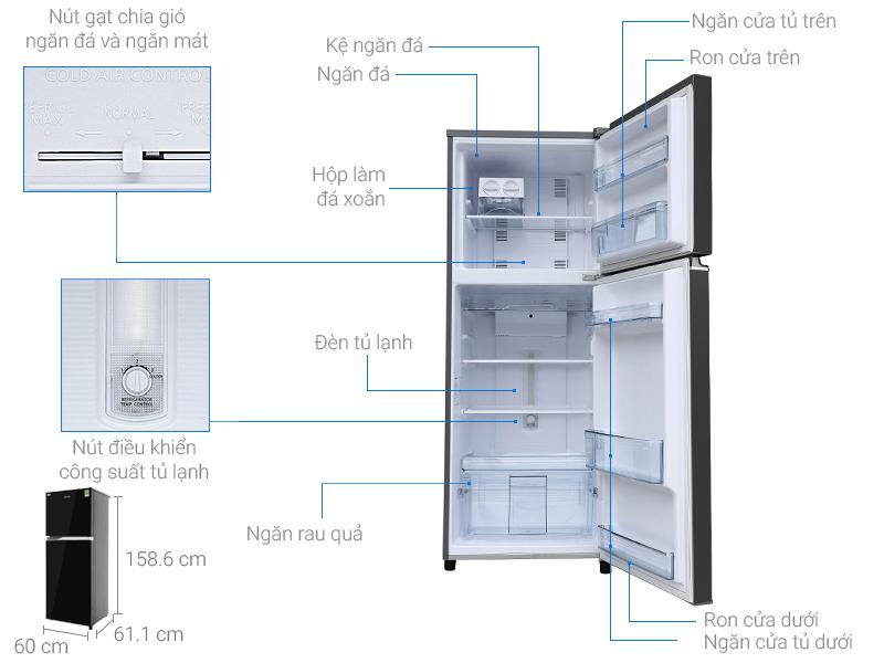 Bộ phận điều chỉnh chế độ ngay bên trong tủ
