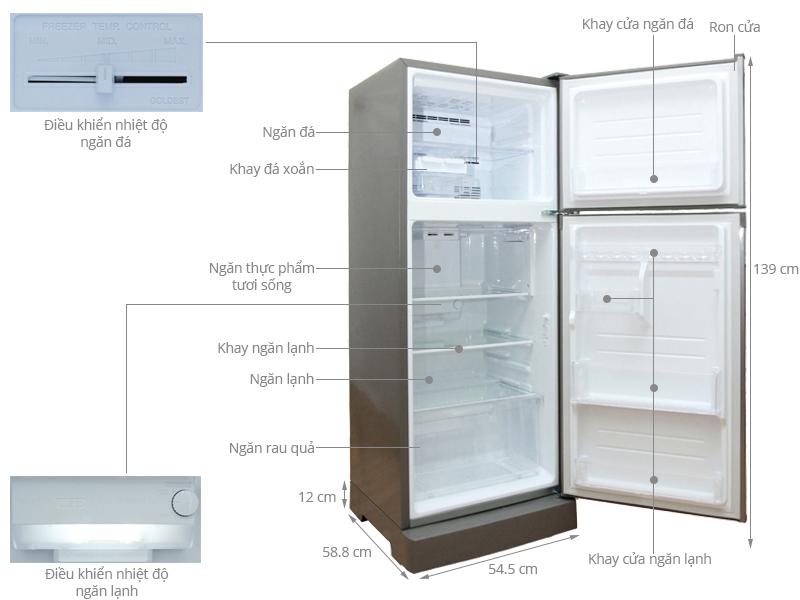 Tủ lạnh Sharp 196 lít SJ-212E-SS - Sự lựa chọn hoàn hảo của mọi gia đình