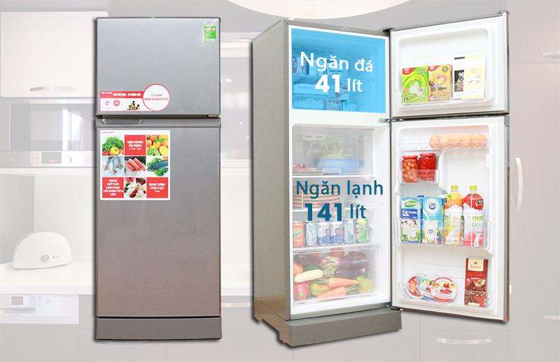 Khả năng lưu trữ ấn tượng của tủ lạnh Sharp SJ-212E-SS