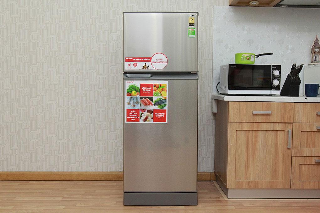 Vận hành êm ái, giảm chi phí điện với tủ lạnh Sharp SJ-212E-SS