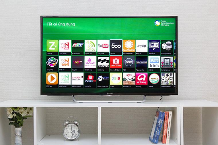 Được tích hợp giao diện Android với tivi Sony 48 inch