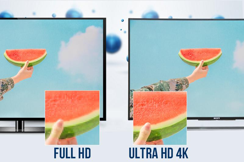 Chất lượng hình ảnh sắc nét chân thực với độ phân giải ULTRA HD 4K với tivi sony 50S800D