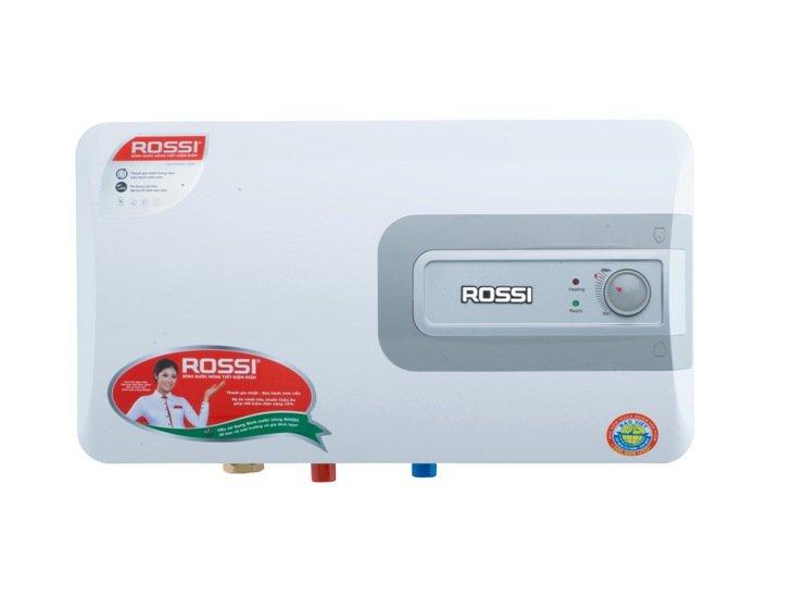 Thiết kế đẹp hoàn thiện không gian phòng tắm với bình nóng lạnh Rossi R 15DI