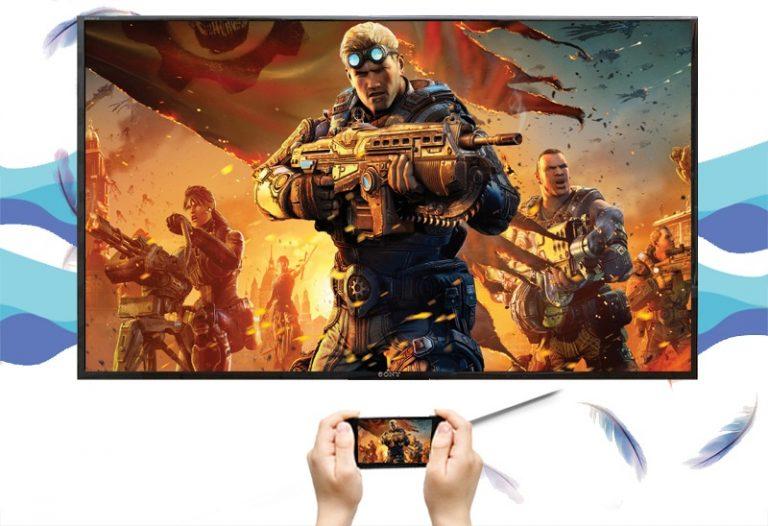 tivi sony 4k 43X8000E/S hỗ trợ tính năng chia sẻ hình ảnh từ điện thoại lên tivi