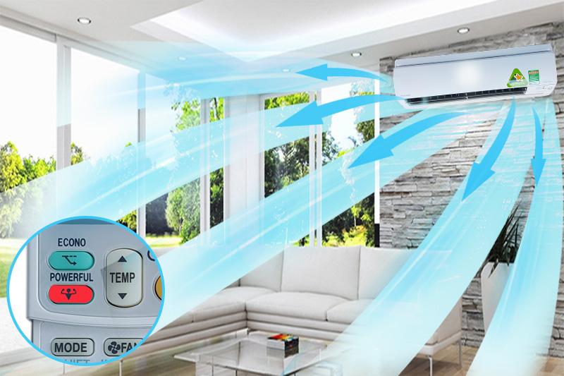 Điều hòa Daikin FTXS50GVMV tích hợp chế độ Powerful giúp làm lạnh hiệu quả